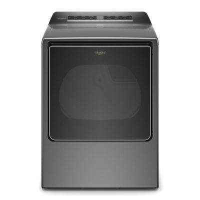 8.8 cu. ft. 120-Volt Smart Chrome Shadow Gas Dryer with Steam and Advanced Moisture Sensing Technology, ENERGY STAR