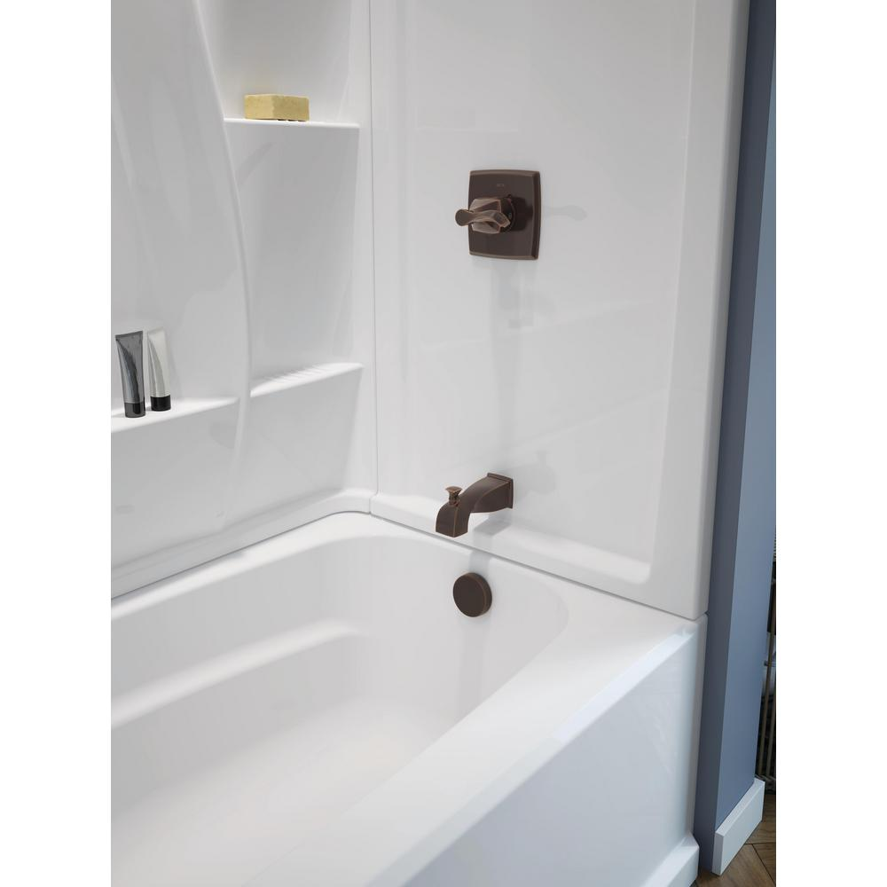 Delta Clic 400 60 In Right Hand Drain Rectangle Alcove Non Whirlpool Bathtub High Gloss White