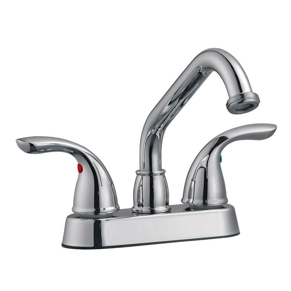 Ashland 2-Handle Utility Faucet in Polished Chrome