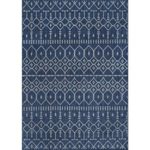 Veranda Navy 6 ft. 7 in. x 9 ft. 6 in. Outdoor Area Rug