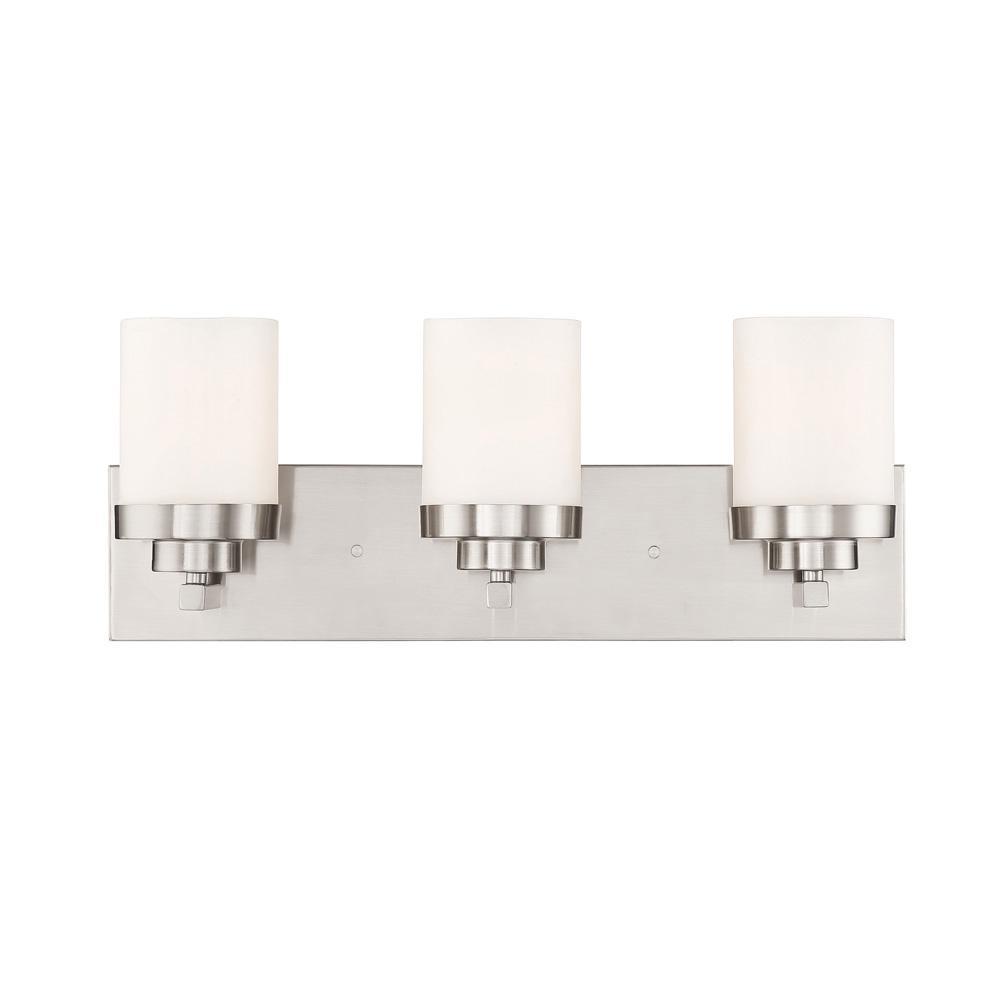 Designers Fountain Kaden 3-Light Satin Platinum Interior Bar Bath Light
