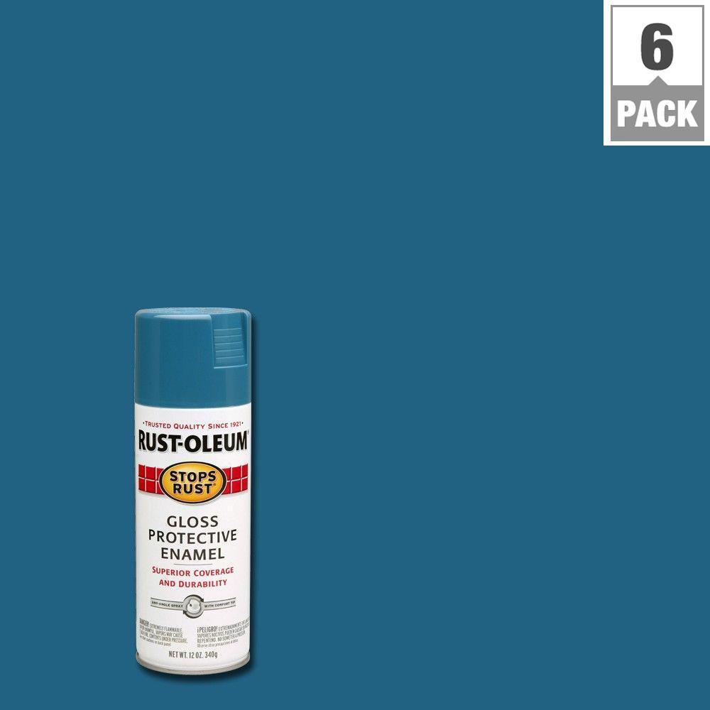 12 oz. Gloss Maui Blue Protective Enamel Spray (6-Pack)