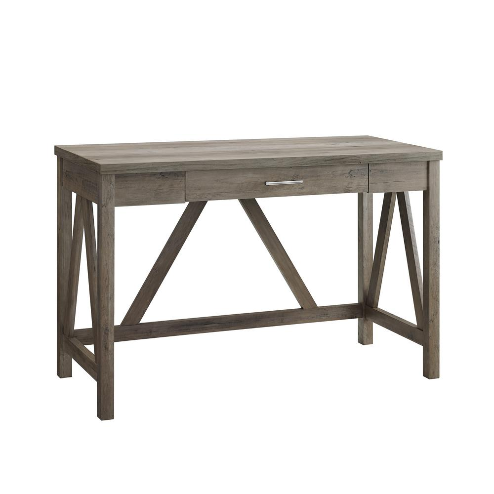 Walker Edison Furniture Company 46 In. Grey Wash Rustic