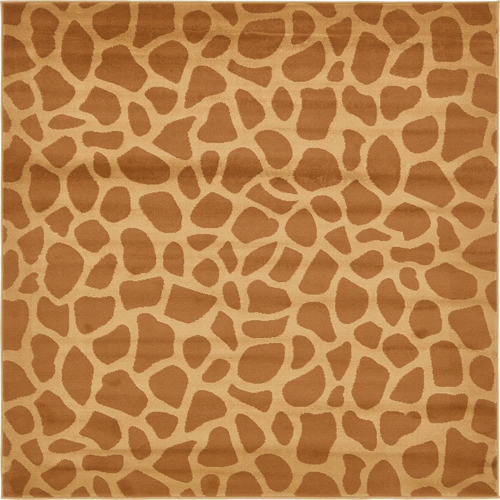 Safari Yellow 6 ft. x 6 ft. Square Area Rug