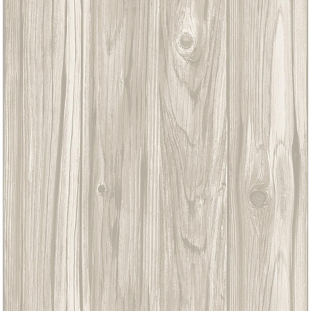 Brewster Paneling Grey Wide Plank Wallpaper Sample Fd23280sam The