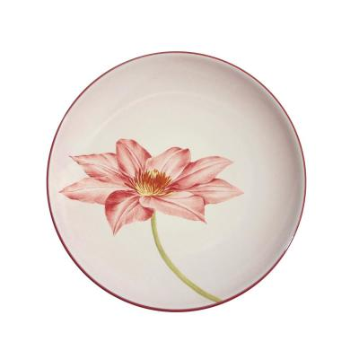 Colorwave 8.25 in. Clematis Accent Plate