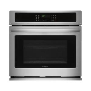 Frigidaire 27 inch Single Electric Wall Oven Self-Cleaning in Stainless Steel by Frigidaire