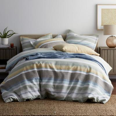 Branford Stripe Linen Duvet Cover