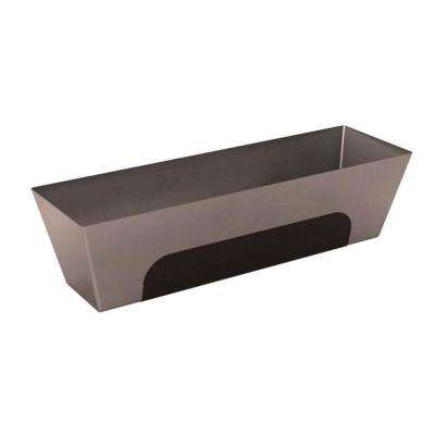 14 in. Heli-Arc Stainless Steel Mud Pan with Grip