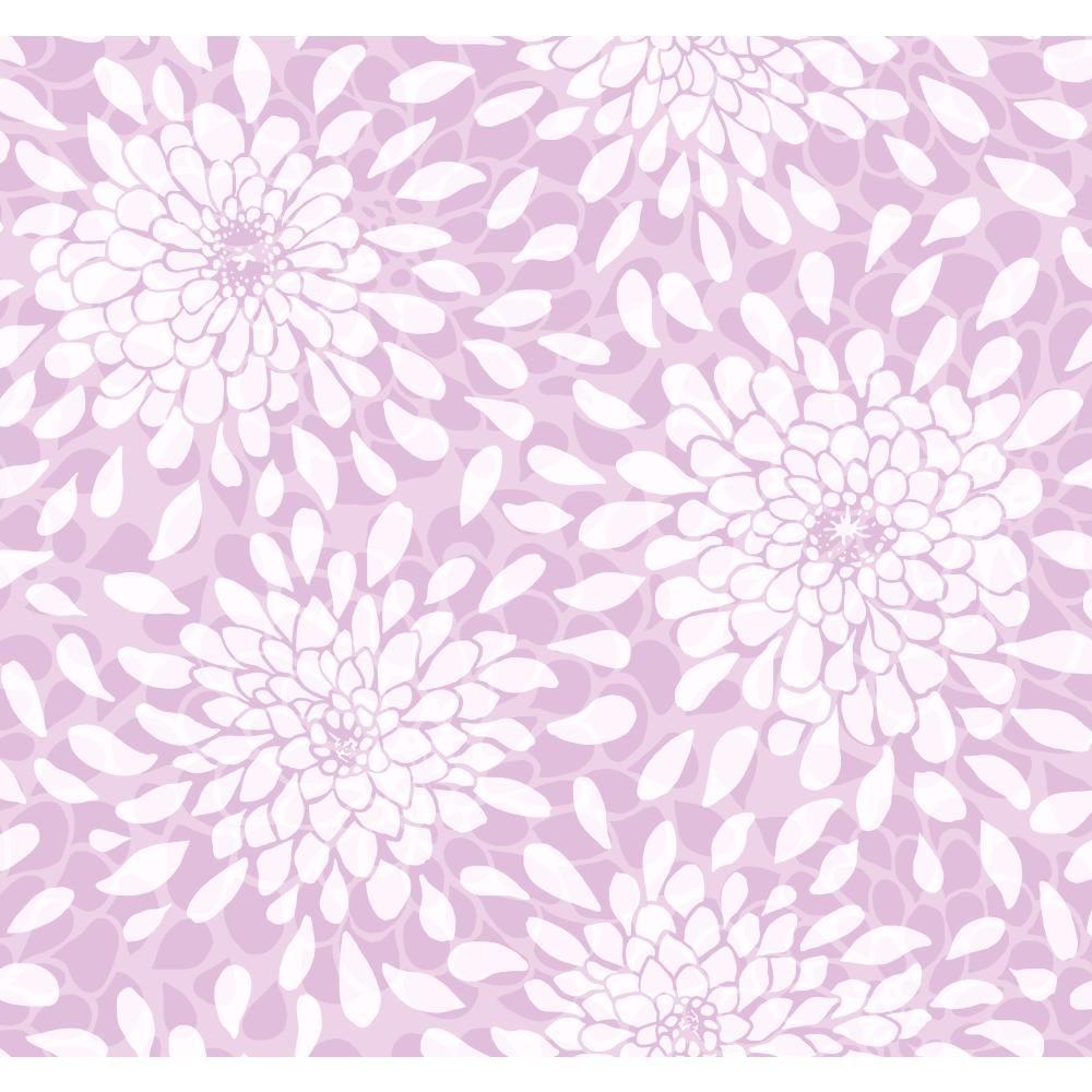 YORK Cool Kids Toss The Bouquet Wallpaper, Orchid/Purple/...
