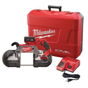 Milwaukee M18 FUEL 18-Volt Cordless Brushless Lithium-Ion Deep Cut Band Saw 1-Battery Kit by Milwaukee