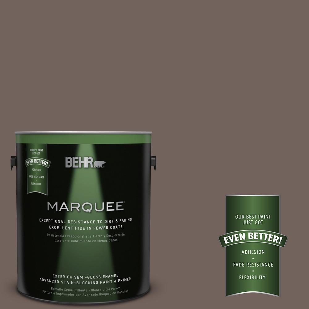 BEHR MARQUEE 1-gal. #780B-6 Mountain Ridge Semi-Gloss Enamel Exterior Paint