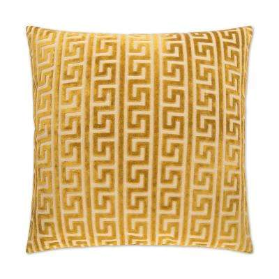 Akis Gilt Feather Down 24 in. x 24 in. Standard Decorative Throw Pillow