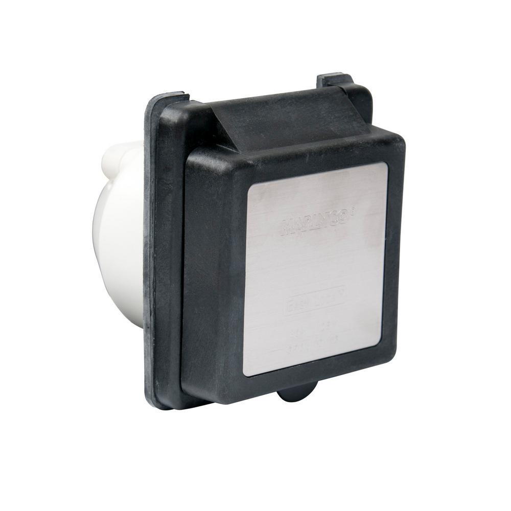 30 Amp Easy Lock Inlet Black