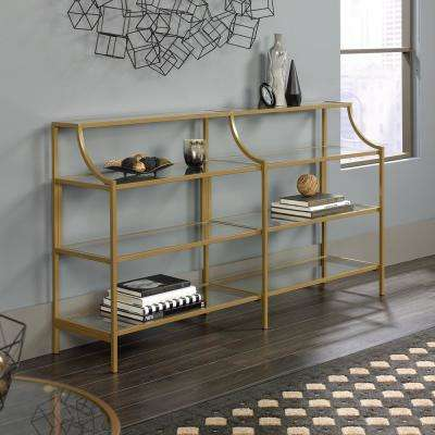International Lux Satin Gold Console Table