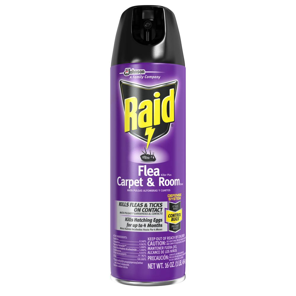 Raid 16 Oz Flea Killer Plus Carpet And Room Spray 12 Per