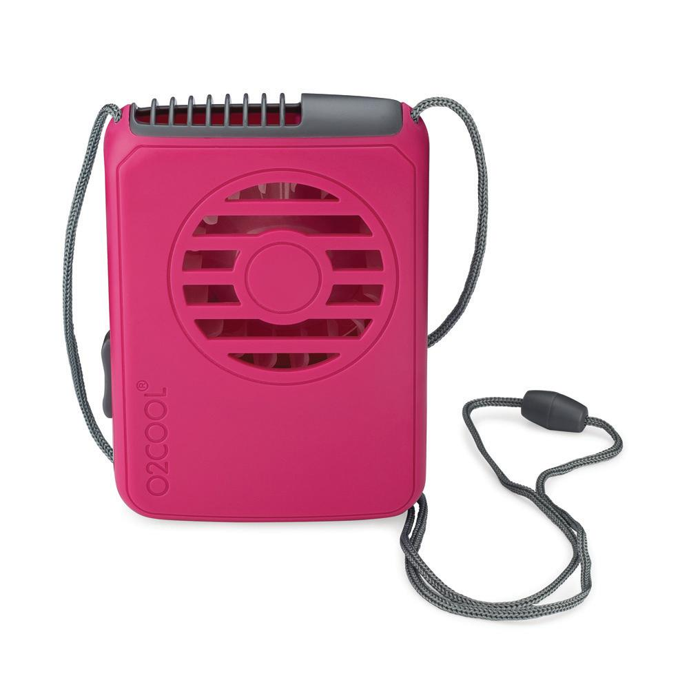 O2COOL O2COOL Deluxe 2.5 in. Necklace Personal Fan in Raspberry, Assorted