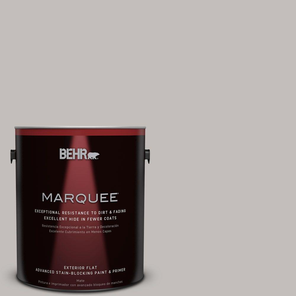 1-gal. #HDC-WR15-3 Noble Gray Flat Exterior Paint