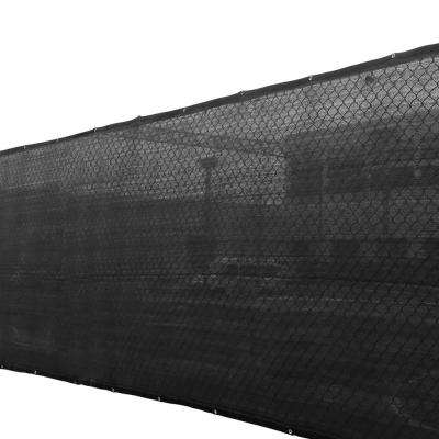 4 ft. x 50 ft. Black 150 GSM HDPE Privacy/Wind Fence Screen Garden Fence