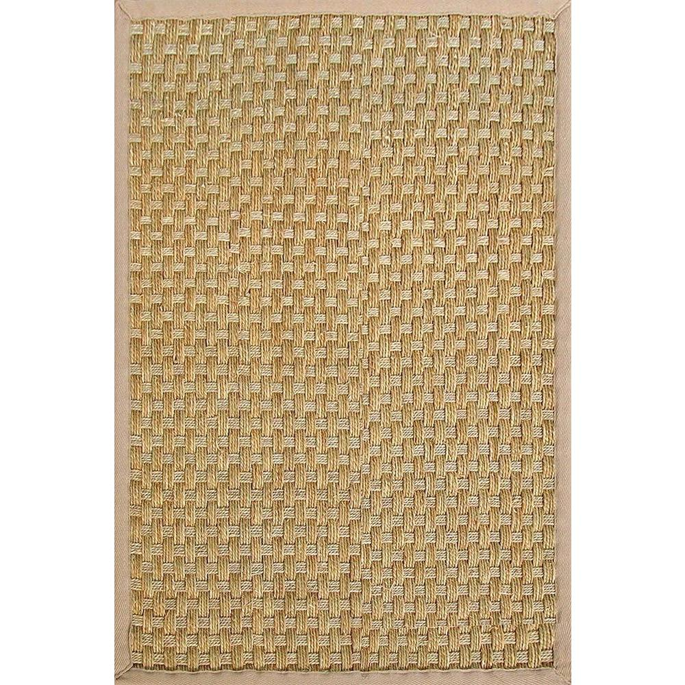 Home Legend Heavy Weave Natural Seagrass 5 ft. x 7 ft. 9 in. Area Rug-DISCONTINUED