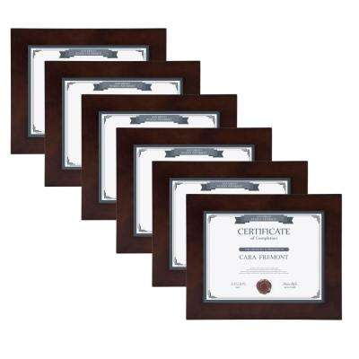 Museum 8.5 in. x 11 in. Walnut Brown Picture Frame (Set of 4)