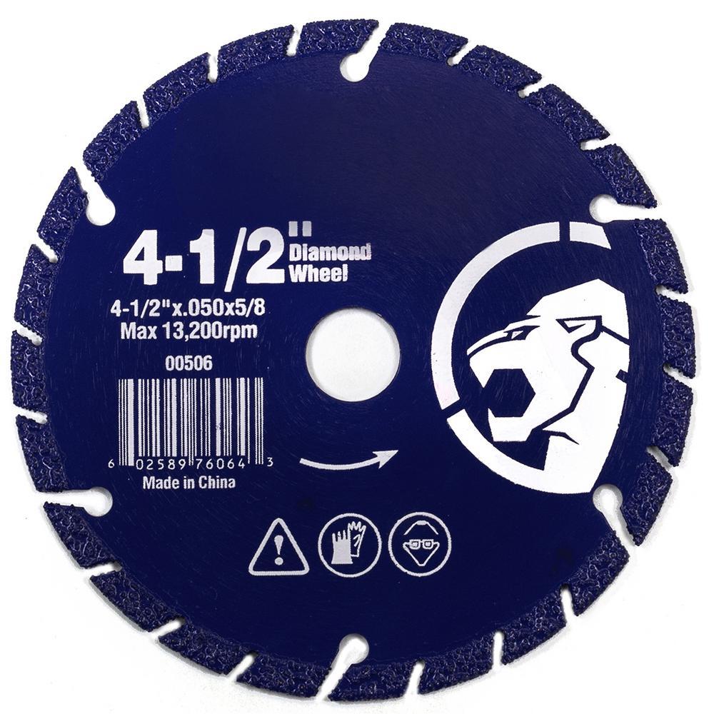 "4.5/"" Diamond edge metal steel iron stainless Cut Off Wheel abrasive 5//8/"" arbor"