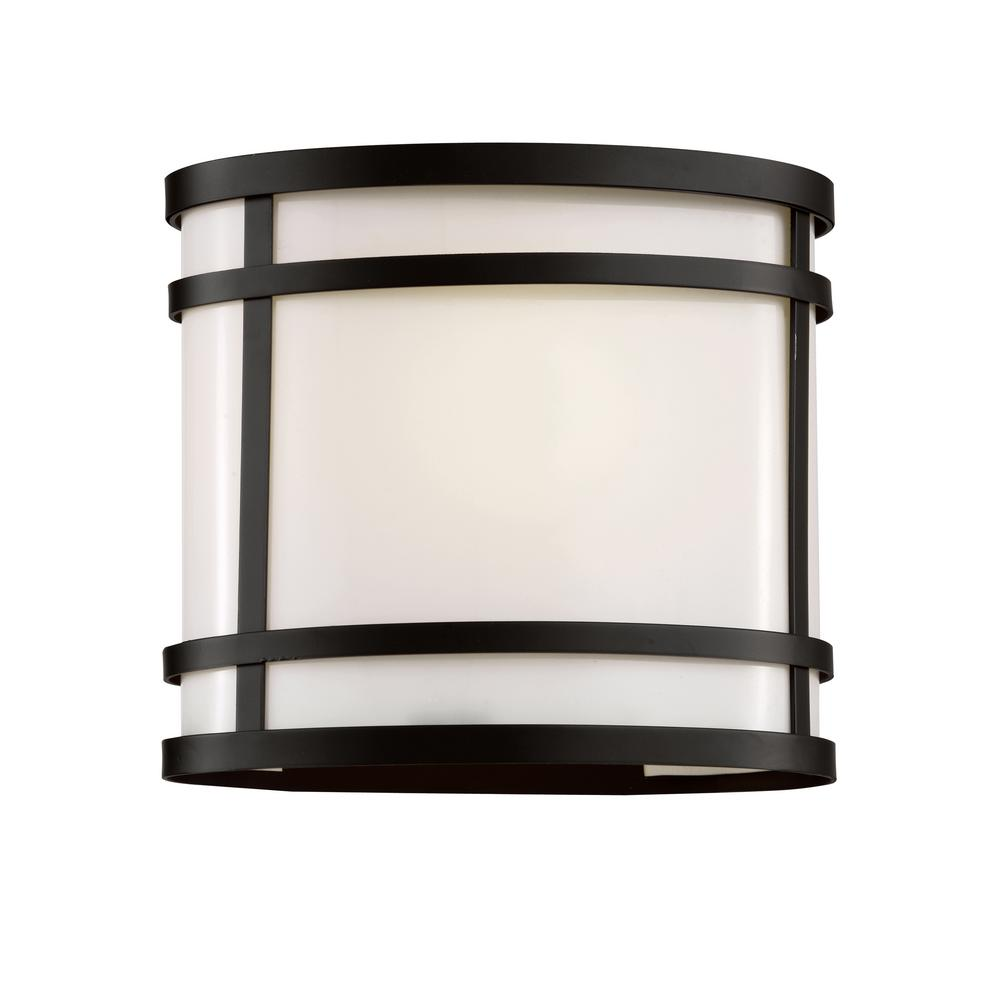 1-Light Black Outdoor Wall Lantern With Oval Frame And Frosted Glass