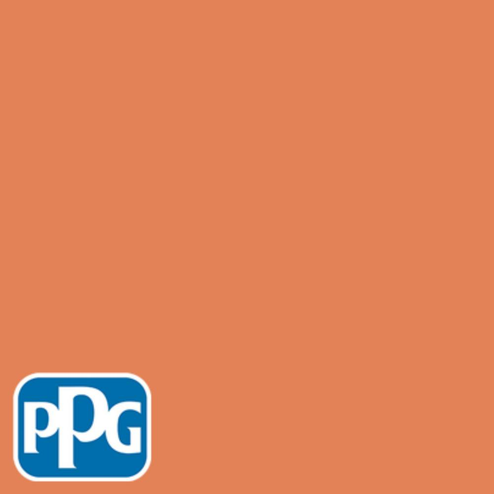 PPG TIMELESS 8 oz. #HDPPGO14U Orange Chinese Lantern Flat Interior/Exterior Paint Sample