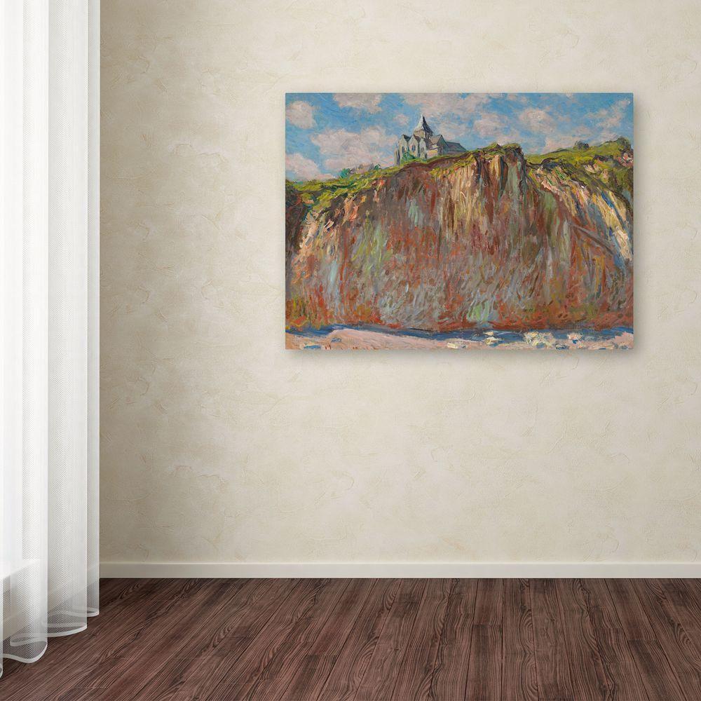 "Trademark Fine Art 18 in. x 24 in. ""Church at Varengeville"" Canvas Art"