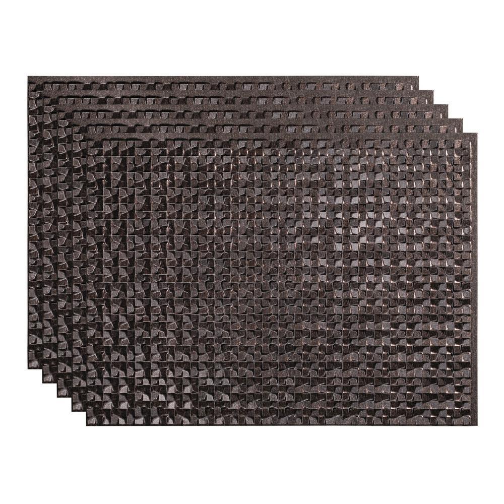 Terrain 18 in. x 24 in. Smoke Pewter Vinyl Decorative Wall Tile Backsplash 15 sq. ft. Kit