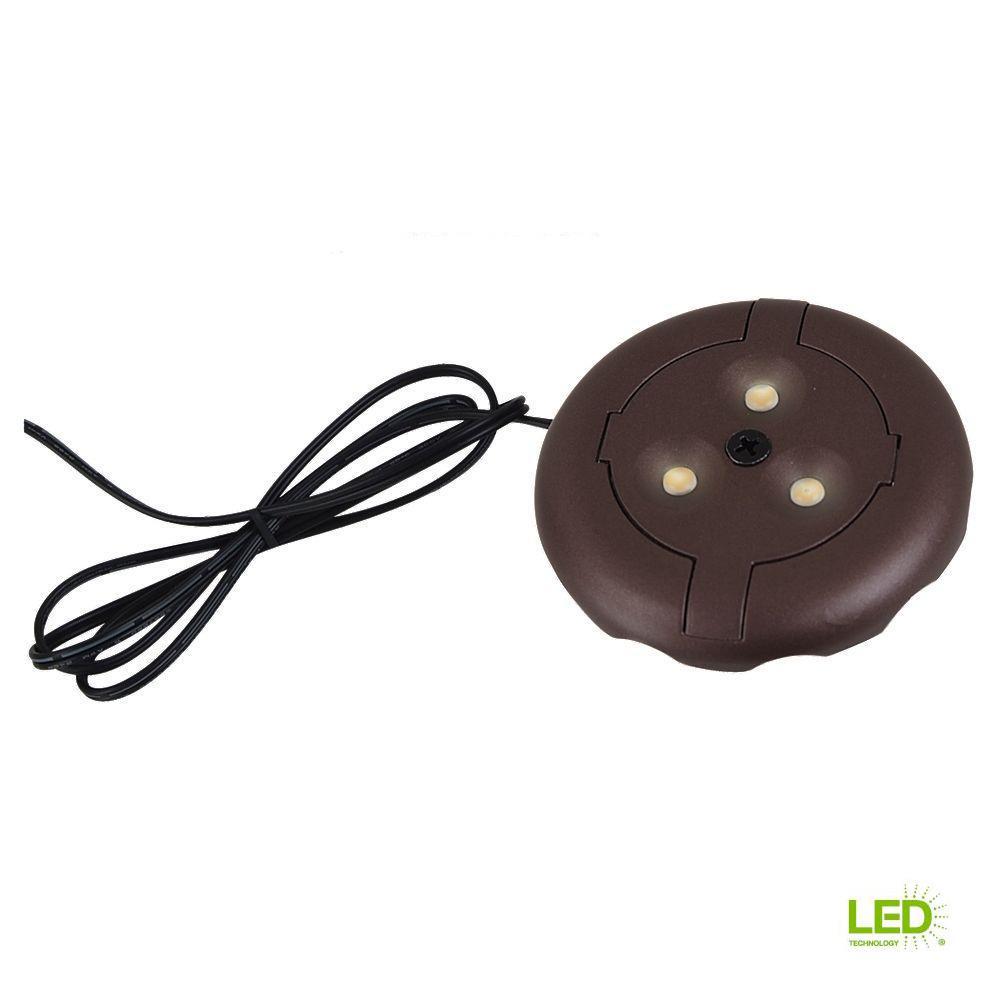 Ambiance 12-Volt Plated Bronze LED Disk Light (2700K)