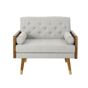 Awesome Noble House Frankie Mid Century Modern Tufted Beige Fabric Gamerscity Chair Design For Home Gamerscityorg