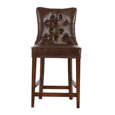 Rebecca 39 in. Brown Cushioned Counter Stool