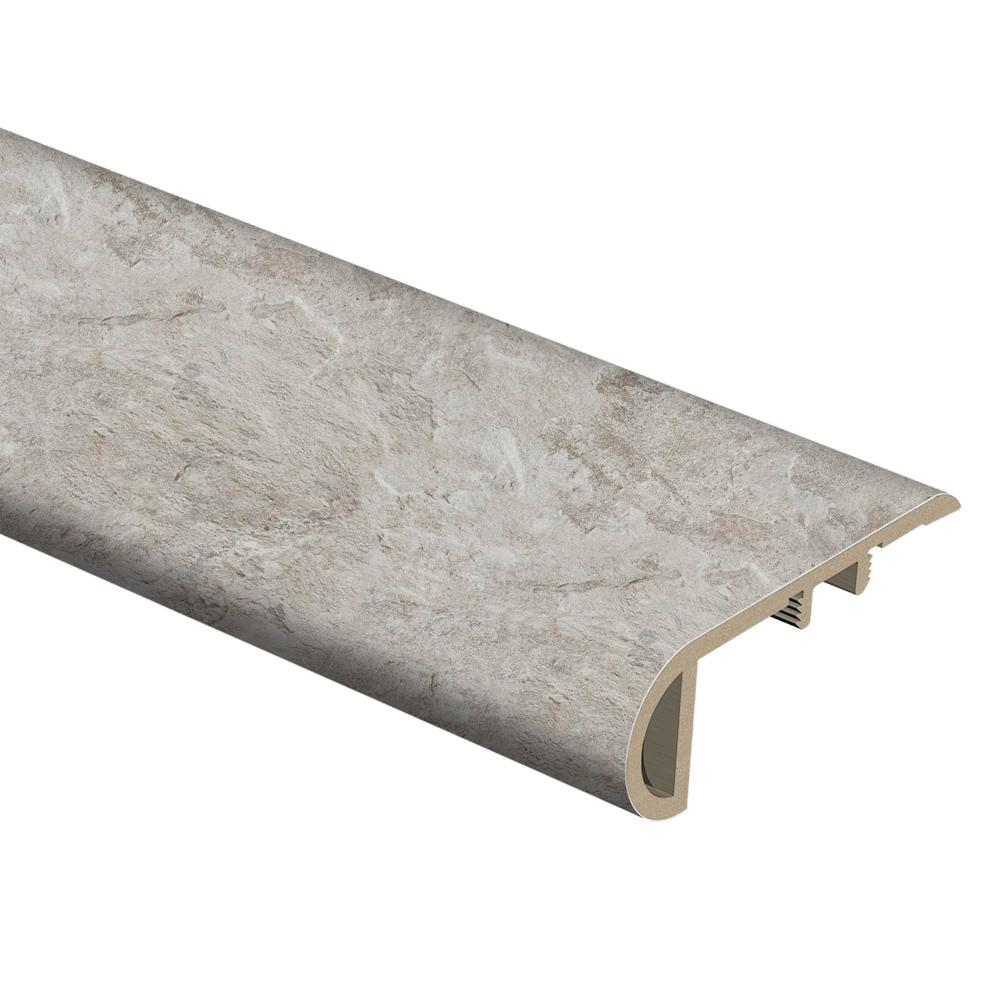 Zamma Shale Grey 3/4 in. Thick x 2-1/8 in. Wide x 94 in. Length Vinyl Stair Nose Molding