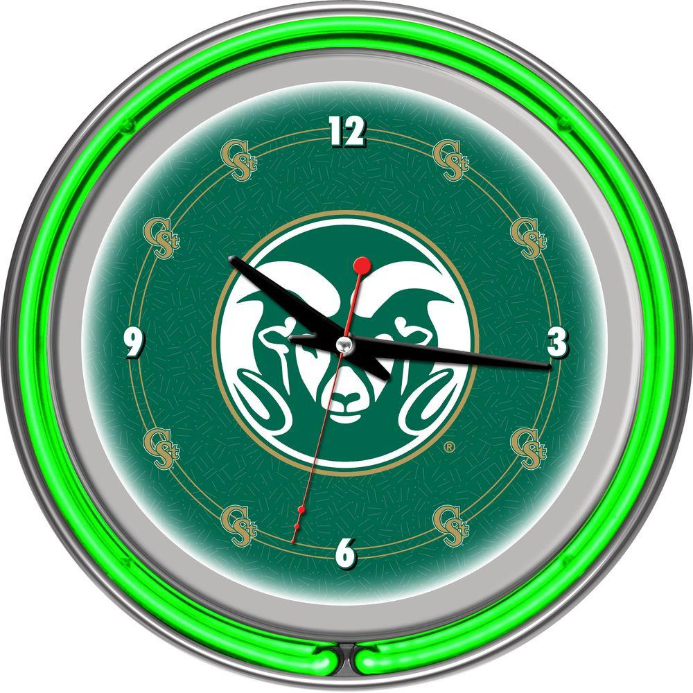 14 in. Colorado State University Neon Wall Clock