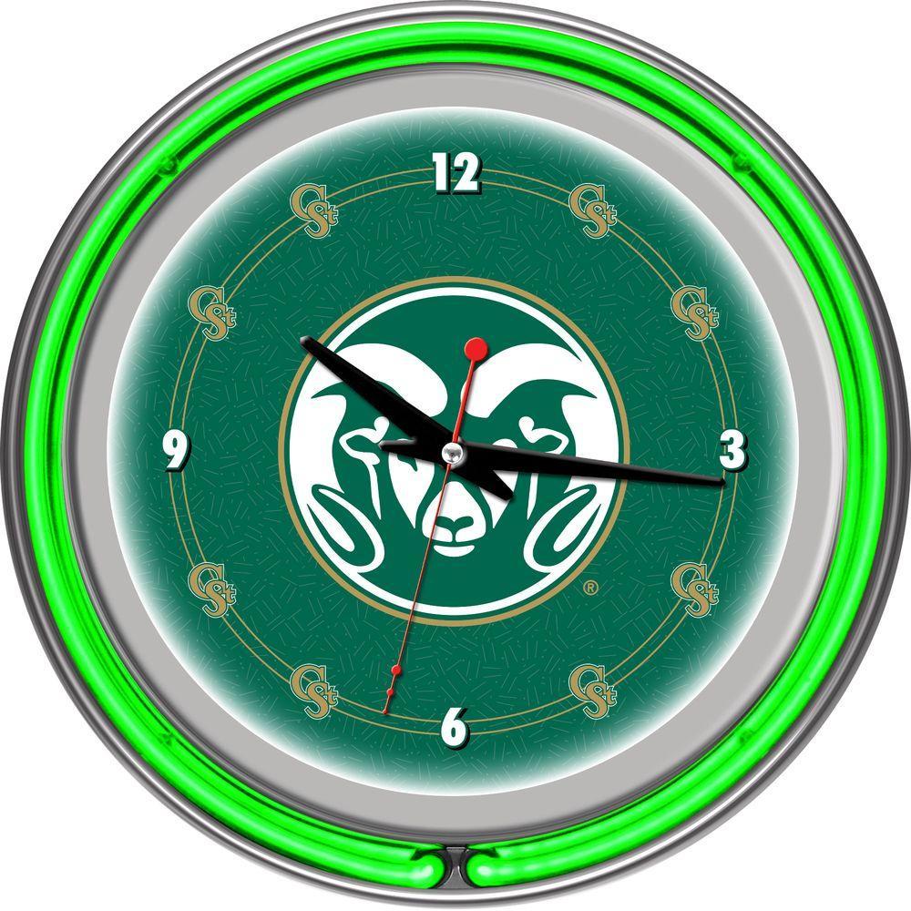 14 in. Colorado State University Neon Wall Clock