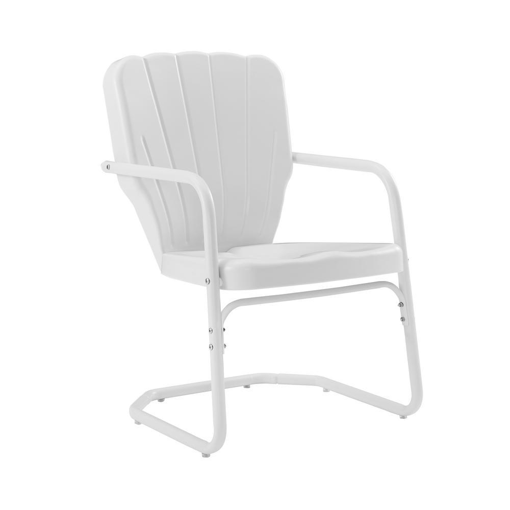 Ridgeland White Metal Lawn Chair