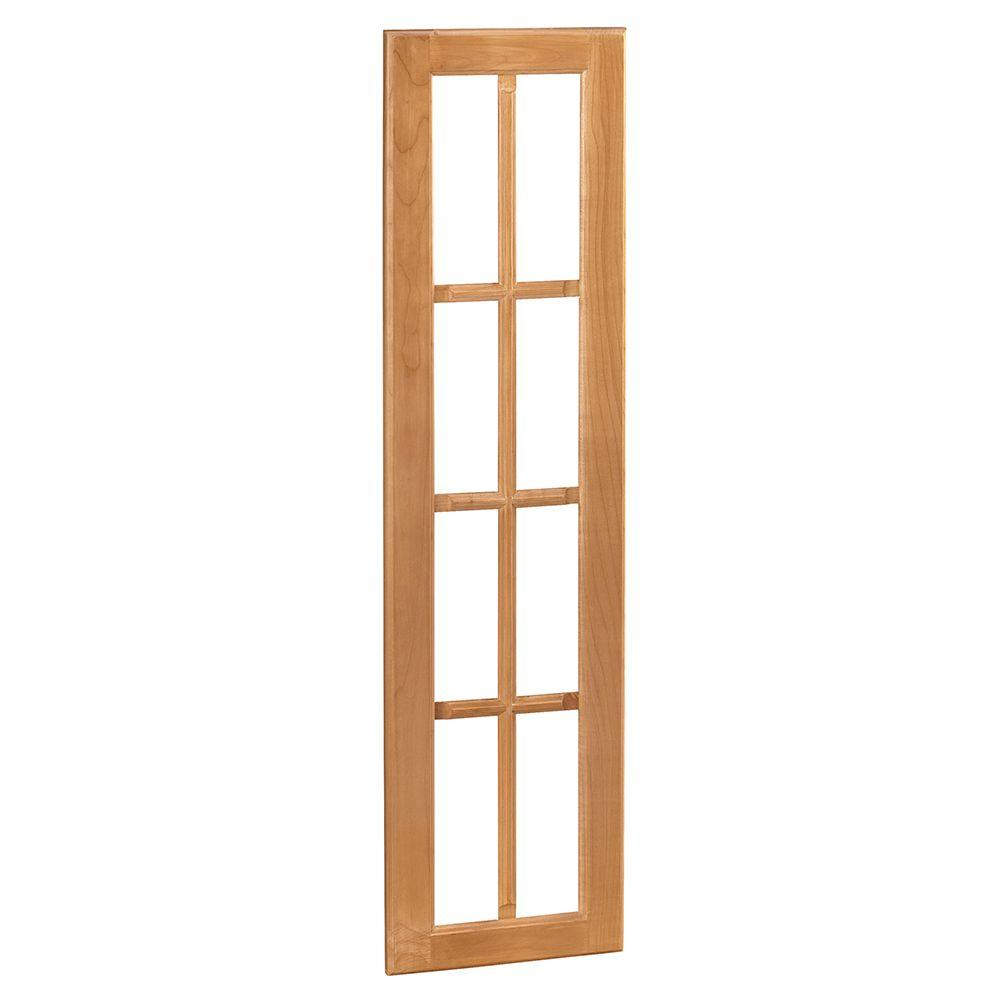 Home Decorators Collection 14.75x42x0.75 in. Mullion Door for Wall Angle Cabinet in Woodford Cinnamon