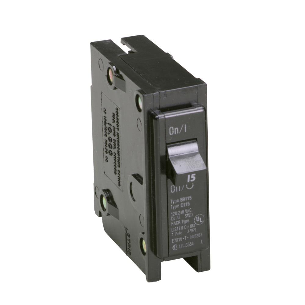Eaton BR 15 Amp Single-Pole Circuit Breaker-BR115 - The Home Depot
