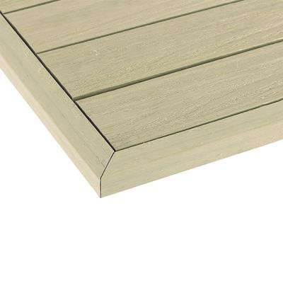 1/6 ft. x 13.95 in. Quick Deck Composite Deck Tile Outside End Corner Fascia in Sahara Sand (2-Pieces/box)