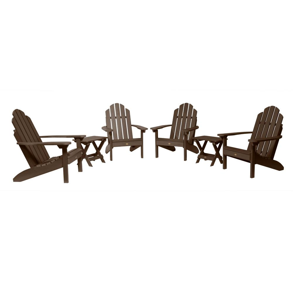 Highwood Classic Wesport Weathered Acorn 6-Piece Plastic Patio Fire Pit Seating Set