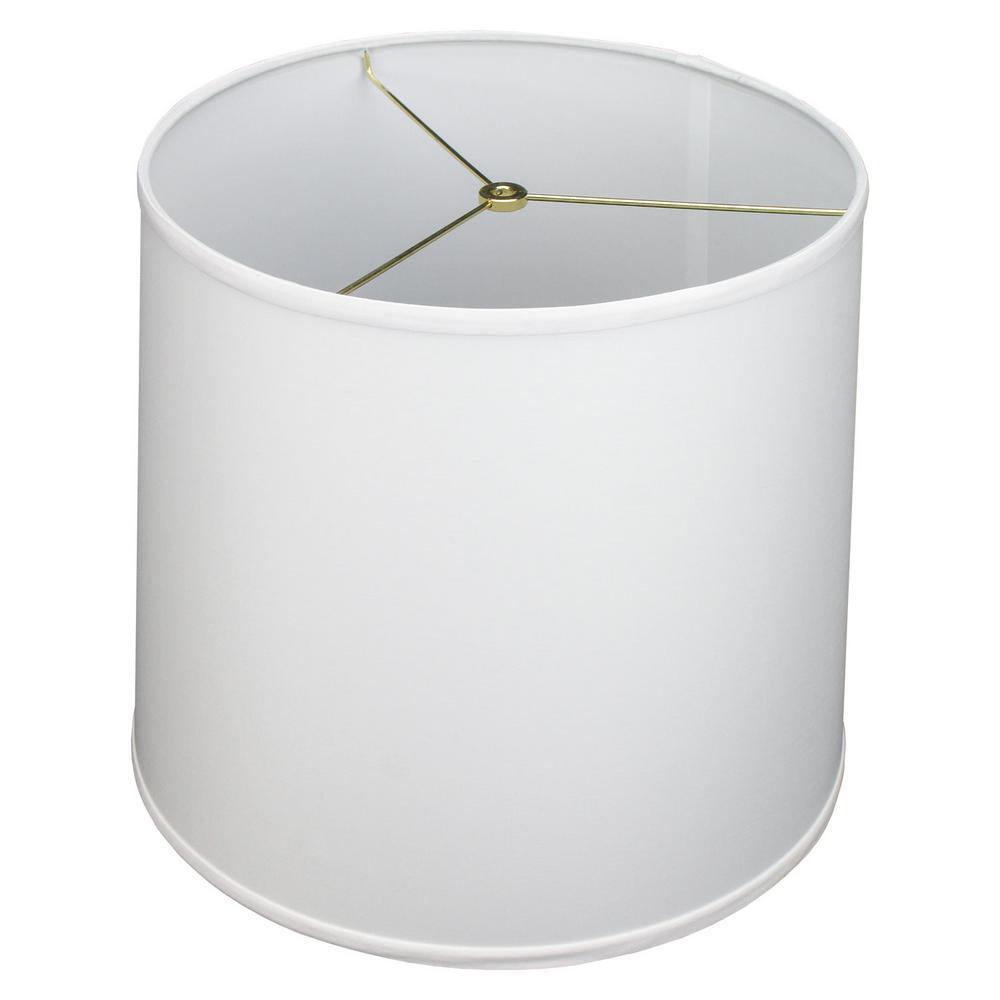 FenchelShades.com 14 in. Top Diameter x 16 in. Bottom Diameter x 14 in. Slant Designer Chintz White Empire Lamp Shade