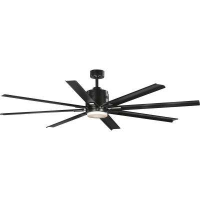 Vast  72 in. 18-Watt LED Black 8-Blade Ceiling Fan with Light