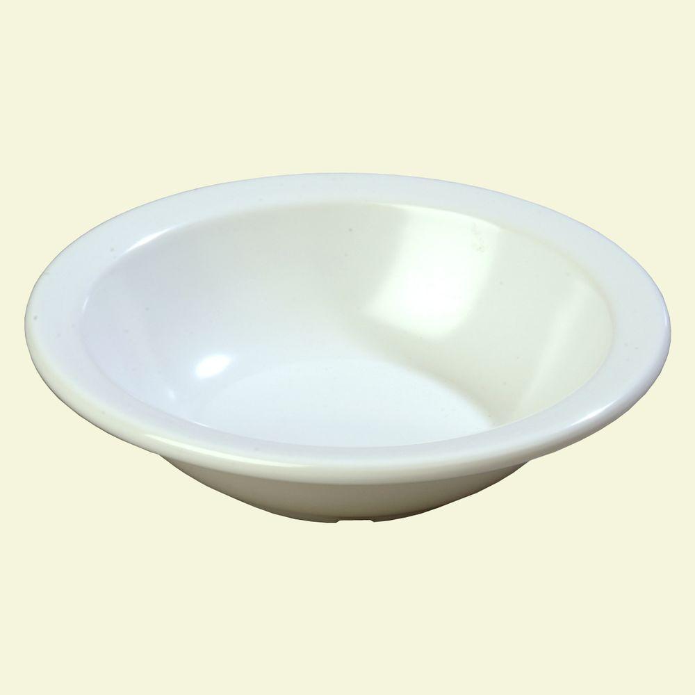 9.6 oz., 5.95 in. Diameter Melamine Grapefruit Bowl in White (Case of 48)