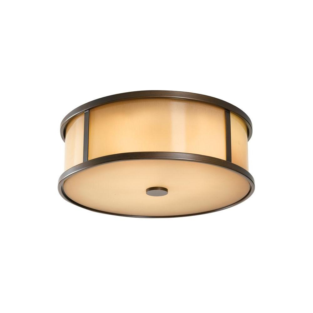 Dakota 2-Light Heritage Bronze Ceiling Light