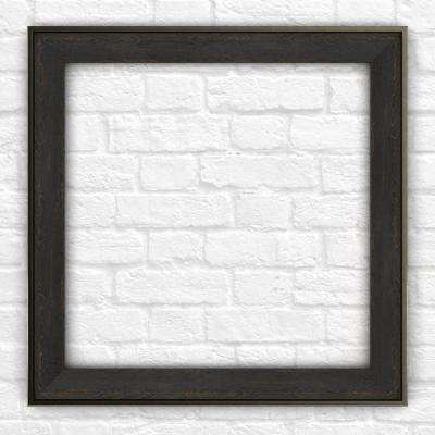 33 in. x 33 in. L2 Square Mirror Frame in Weathered Wood