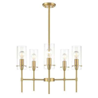 Montreal 5-Light Brushed Brass Chandelier