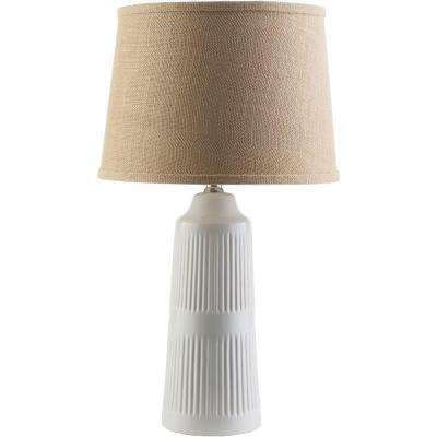 Tomlinson 23 in. White Indoor Table Lamp