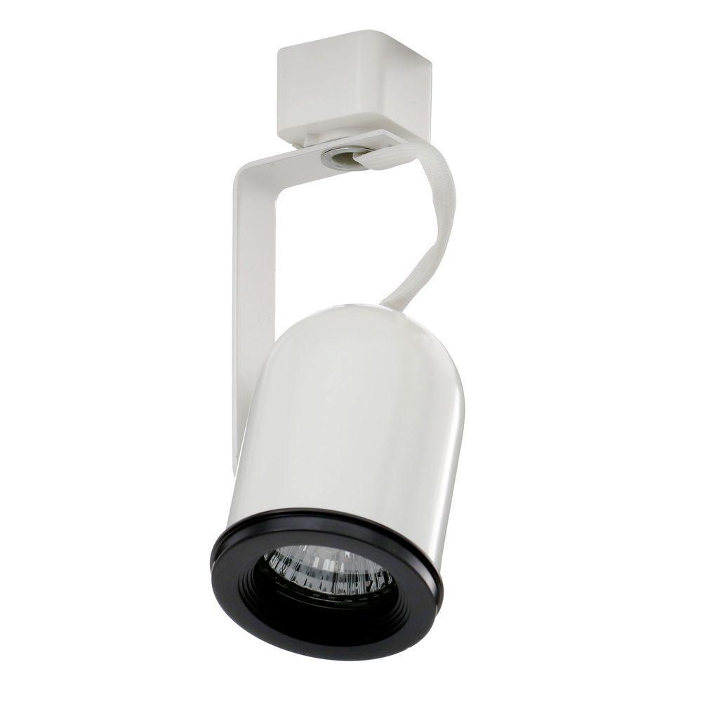 Trac-Lites White Round-Back Cylinder Light