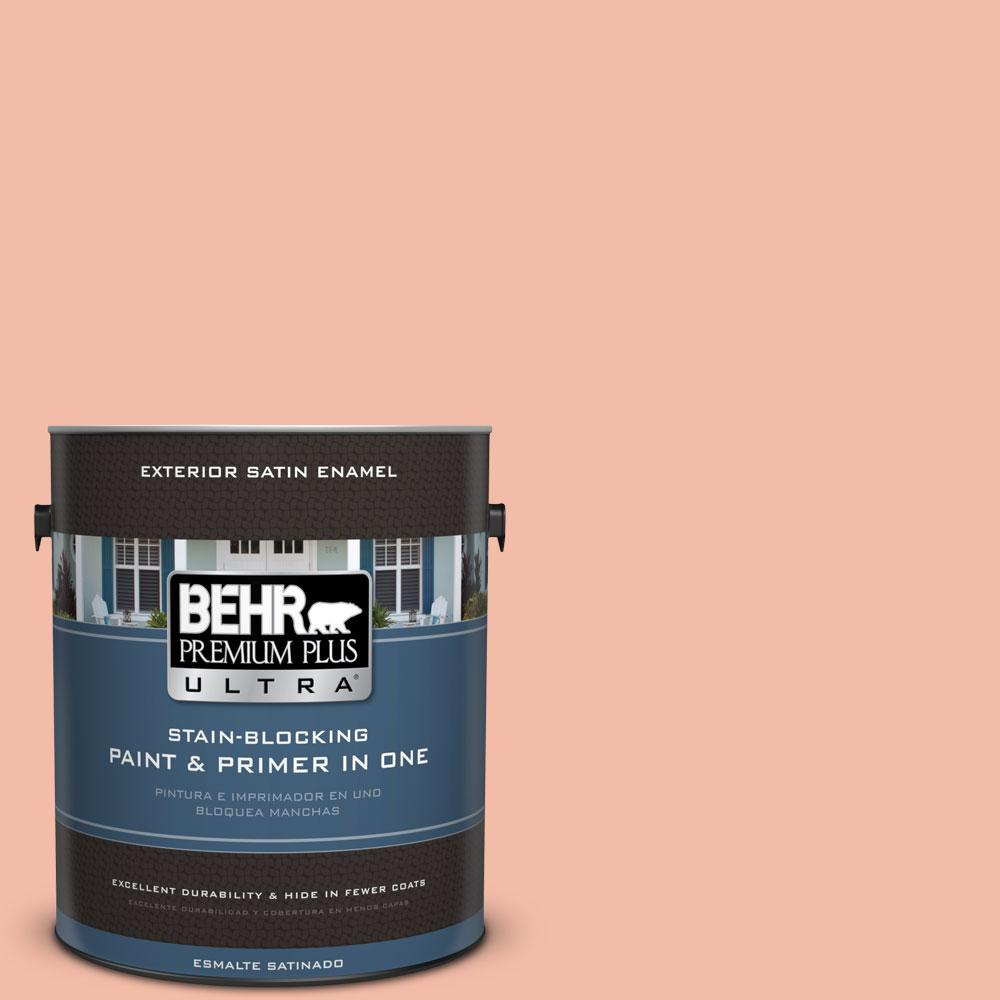 1 gal. #HDC-CT-14A Sunkissed Apricot Exterior Satin Enamel Paint